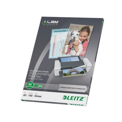 Leitz Lamineerhoes UDT A3, 80 micron (verpakking 100 stuks) Laminatorhoes