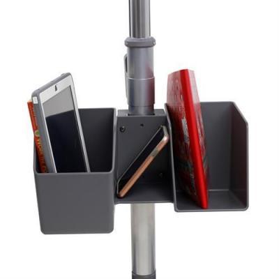 Ergotron multimedia kar & stand: Storage Bin, 3.6kg - Zwart, Grijs, Roestvrijstaal
