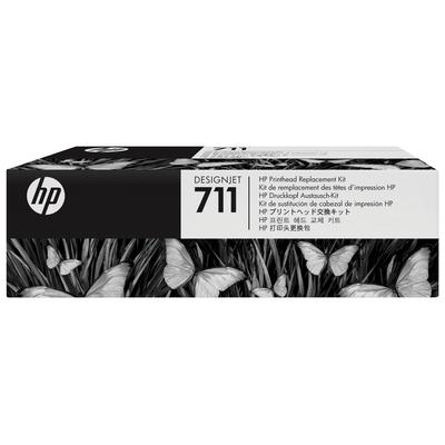 Hp printkop: 711 DesignJet printkopvervangingskit - Zwart, Cyaan, Magenta, Geel