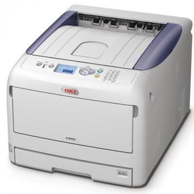 OKI laserprinter: C822dn - Wit