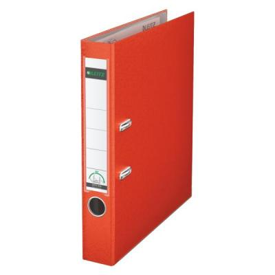 Leitz ringband: 180° Lever Arch File Plastic 50 mm - Rood