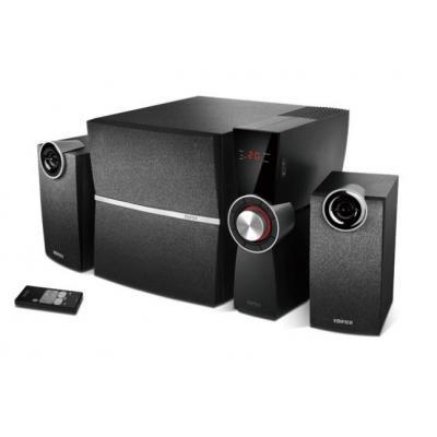 Edifier luidspreker set: C2XD 2.1 multimedia audio luidsprekersysteem met externe versterker en optische ingang - Zwart