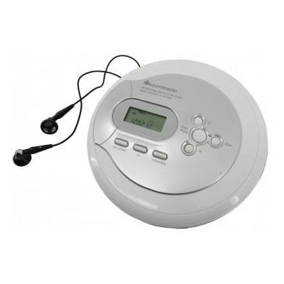 Soundmaster CD speler: CD/MP3-Player @ ESP & Batterie Charging Function & Resume Function, Silver - Zilver