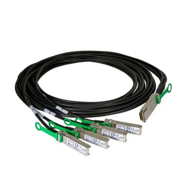 Intel Ethernet QSFP28 to SFP28 Twinaxial Breakout Cable, 2m Fiber optic kabel - Zwart,Groen