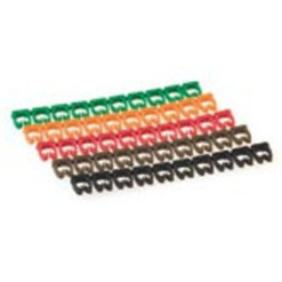 Microconnect kabelklem: Set of 10x10 cablemarkers - Multi kleuren