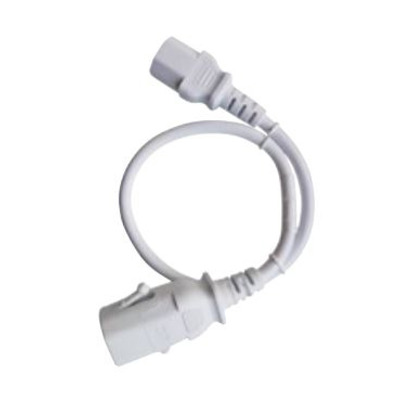 Raritan 1.0m, white, 1 x IEC C-14, 1 x IEC C-13 Electriciteitssnoer - Wit