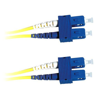 Lanview 2x SC - 2x SC, OS2, LSZH, 9 / 125 µm, Yellow, 2 m Fiber optic kabel - Geel