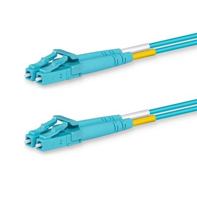 Lanview 2 x LC - 2 x LC Multimode fibre cable, OM3, 50 / 125 µm, LSZH, Aqua, 1 m Fiber optic kabel - Aqua-kleur