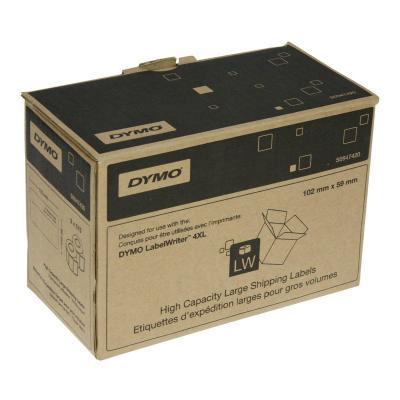 Dymo etiket: High Capacity Large Shipping Labels 102mm x 59mm - Zwart, Wit