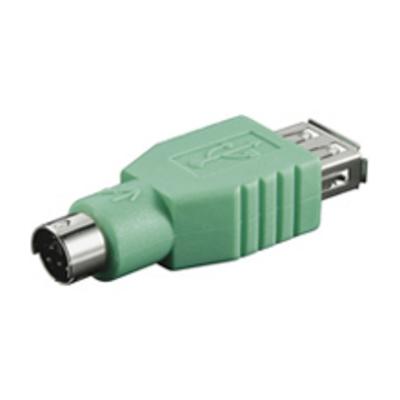 Goobay USB ADAP A-F/PS2-M Kabel adapter - Groen