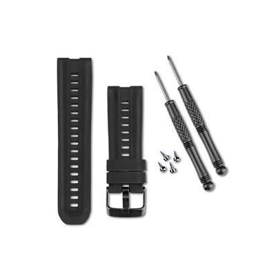 Garmin horloge-band: Black, Silicone - Zwart