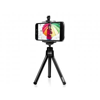 SBS Selfie stand for smartphone, Black Tripod - Zwart