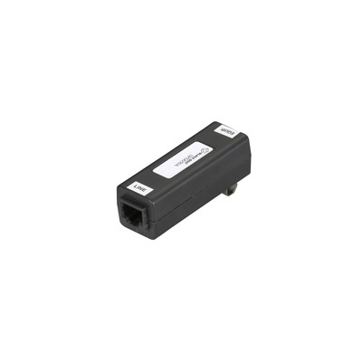 Black Box T1 ISDN DDS Data-Line Surge Protector - 60 Clamping Voltage, 50-Amp, RJ-45, DIN-Rail Mount PoE .....