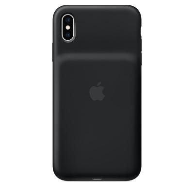 Apple mobile phone case: Smart Battery Case voor iPhone XS Max - Zwart