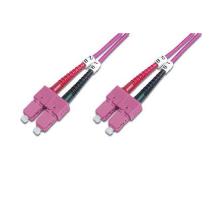 Digitus Professional Glasvezel multimode patchkabel, OM4, SC / SC Fiber optic kabel - Roze