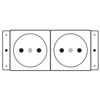Kramer Electronics TS-2DE Wandcontactdoos