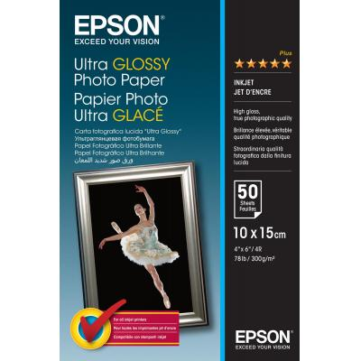 Epson fotopapier: Ultra Glossy Photo Paper, 100 x 150 mm, 300g/m², 50 Vel