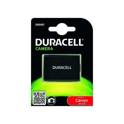 Duracell batterij: Lithium ion, 7.4V, 1020 mAh. - Zwart