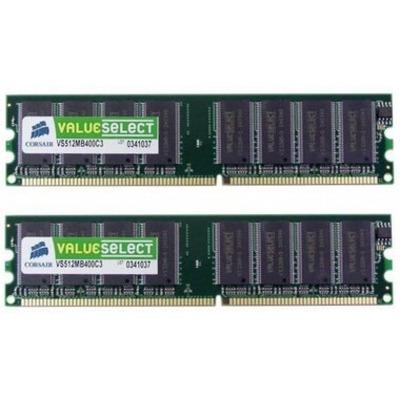 Corsair VS2GBKIT400C3 RAM-geheugen