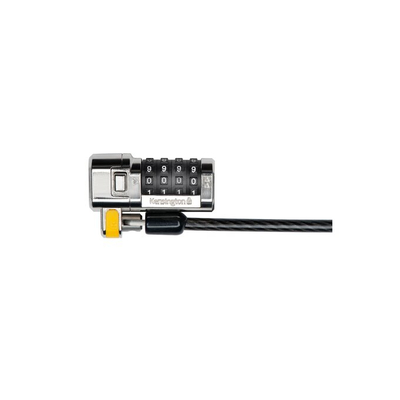 Kensington kabelslot: ClickSafe® Combination Laptopslot - Zwart, Roestvrijstaal
