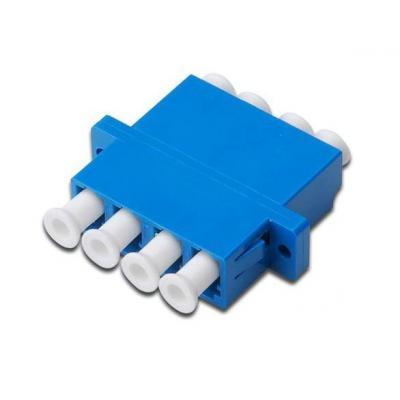 Digitus fiber optic adapter: LC / LC Quad Coupler (4-port), Singlemode - Blauw