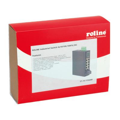 ROLINE Industrial, 6x RJ-45, 2x SC, unmanaged Switch