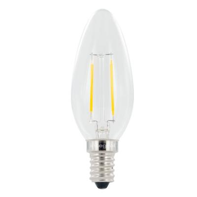 Integral hardware: E14 Omni Filament Candle LED Lamp, 2700K, 2.0W, 250 Lumen, non dimmable