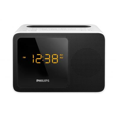 Philips radio: Klokradio - Zwart, Wit