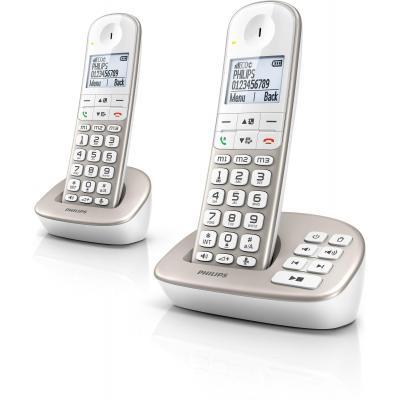 Philips dect telefoon: Draadloze telefoon met antwoordapparaat XL4952S/22 - Zilver, Wit