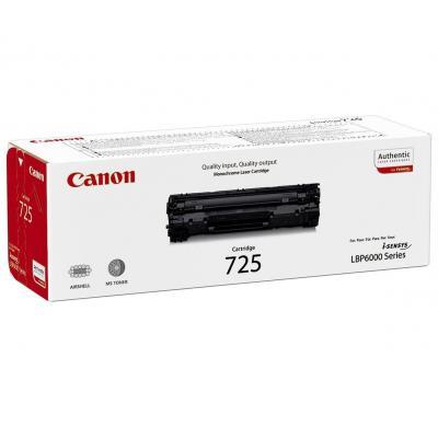 Canon cartridge: 1x Toner Black  CRG 725+doos geel a4 papier+ snoep - Zwart