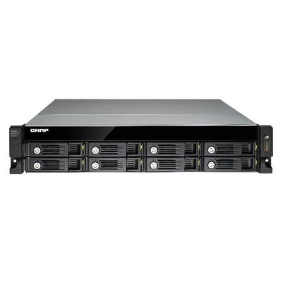"QNAP 8 x 3.5""/2.5"", USB 3.0, LCD, 7 cm fan SAN - Zwart"