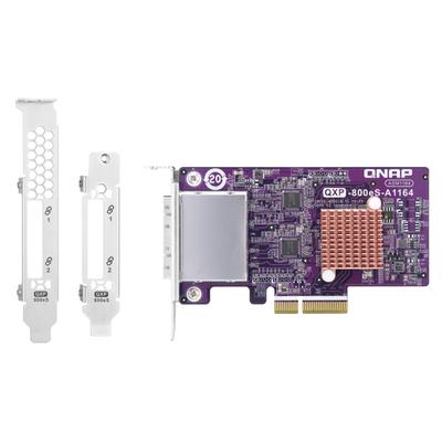 QNAP QXP-800ES-A1164 Interfaceadapter - Blauw