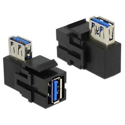 DeLOCK USB 3.0 A - USB 3.0 A, 90° - Zwart