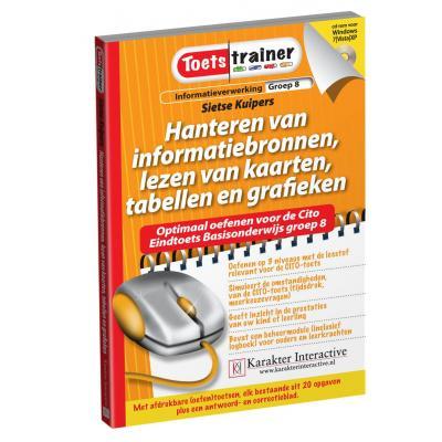 Karakter educatieve software: Toetstrainer Informatieverwerking, Hanteren van Informatie Bronnen, Lezen van Kaarten, .....