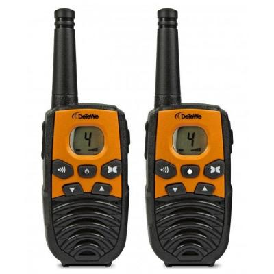 Detewe walkie-talkie: Outdoor 4000 - Zwart, Oranje