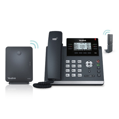 "Yealink DECT, 2.7"" 192x64 px LCD, HD voice, G.722/Opus IP telefoon"