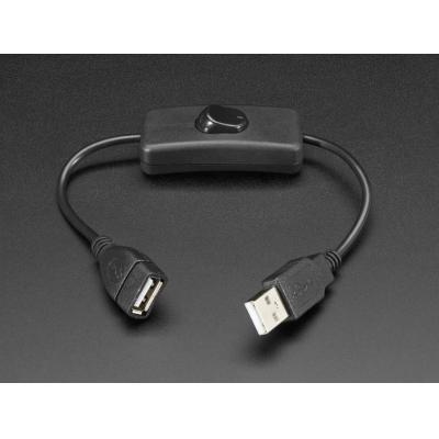 Adafruit USB kabel: USB A, 0.22 m - Zwart