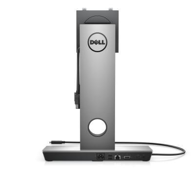 Dell docking station: Dock with Monitor Stand DS1000 - EU - Zwart, Zilver
