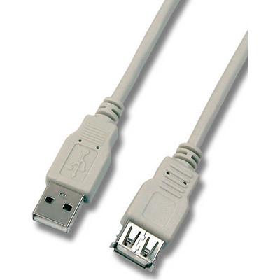 EFB Elektronik 1.8m M/FM, USB 2.0 USB kabel - Grijs