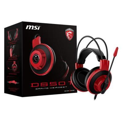 Msi headset: DS501 - Zwart, Rood