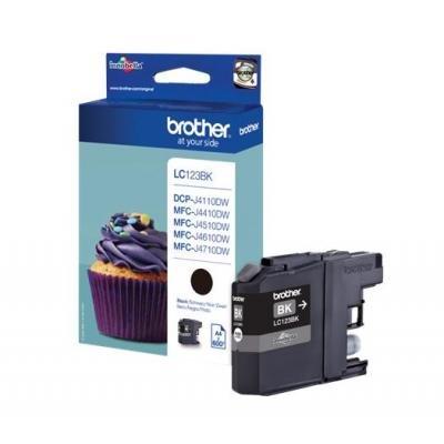Brother inktcartridge: LC123BK - Zwart