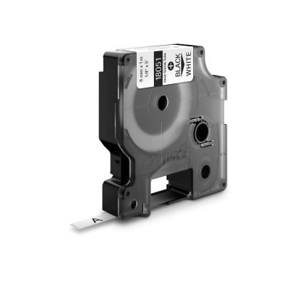 Dymo labelprinter tape: 6mm RhinoPRO Heat shrink tubes - Zwart op wit