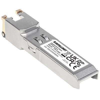 Intellinet Gigabit RJ45 Copper SFP Optical Transceiver Module, 1000Base-T (RJ-45) port, 100m Netwerk .....