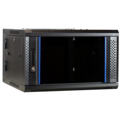 DS-IT 6U wandkast (kantelbaar) met glazen deur 600x600x368mm Stellingen/racks