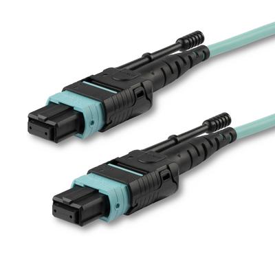 StarTech.com MTP Fiber Optic Cable - 3 ft / 1m - OM3 - 40Gb - Push / Pull Tab - Plenum - MPO / MTP .....