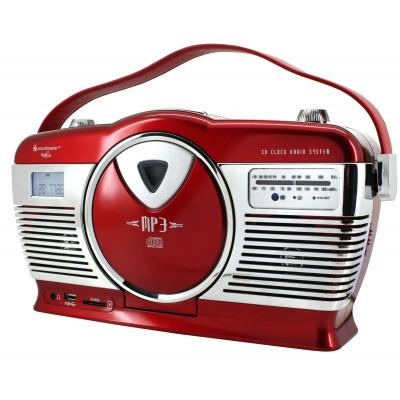 Soundmaster CD-radio: Retro CD/MP3/USB radio, Red - Rood