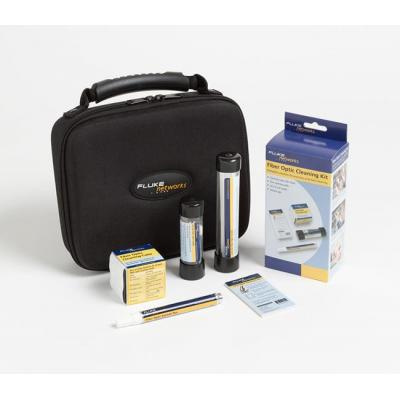 Fluke reinigingskit: Fiber Optic Cleaning Kit - Cleaning Cube, Cleaning Card, Solvent Pen, 2.5mm & 1.25mm Swabs - .....