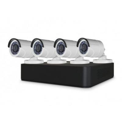 "Conceptronic video toezicht kit: 4 x 1/3"" CMOS 720P Day/Night Outdoor Cameras, 8-Channel 720P CCTV Surveillance Kit, ....."