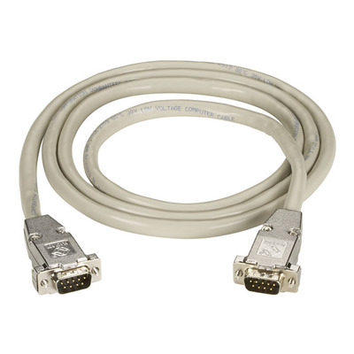 Black Box DB9 Extension Cable with EMI/RFI Hoods, Beige, Male/Male, 10ft. (3m) VGA kabel