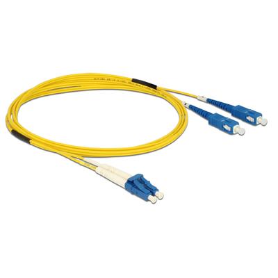 DeLOCK Cable Optical Fibre LC > SC Singlemode OS2 2 m Fiber optic kabel - Geel
